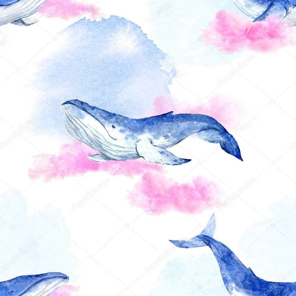 Abstract pattern with whales