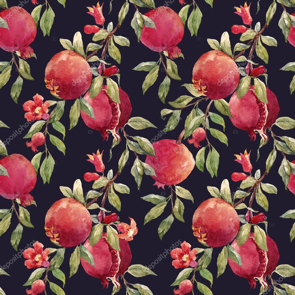 Pomegranate fruit pattern