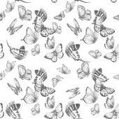 Photo Watercolor butterfly pattern