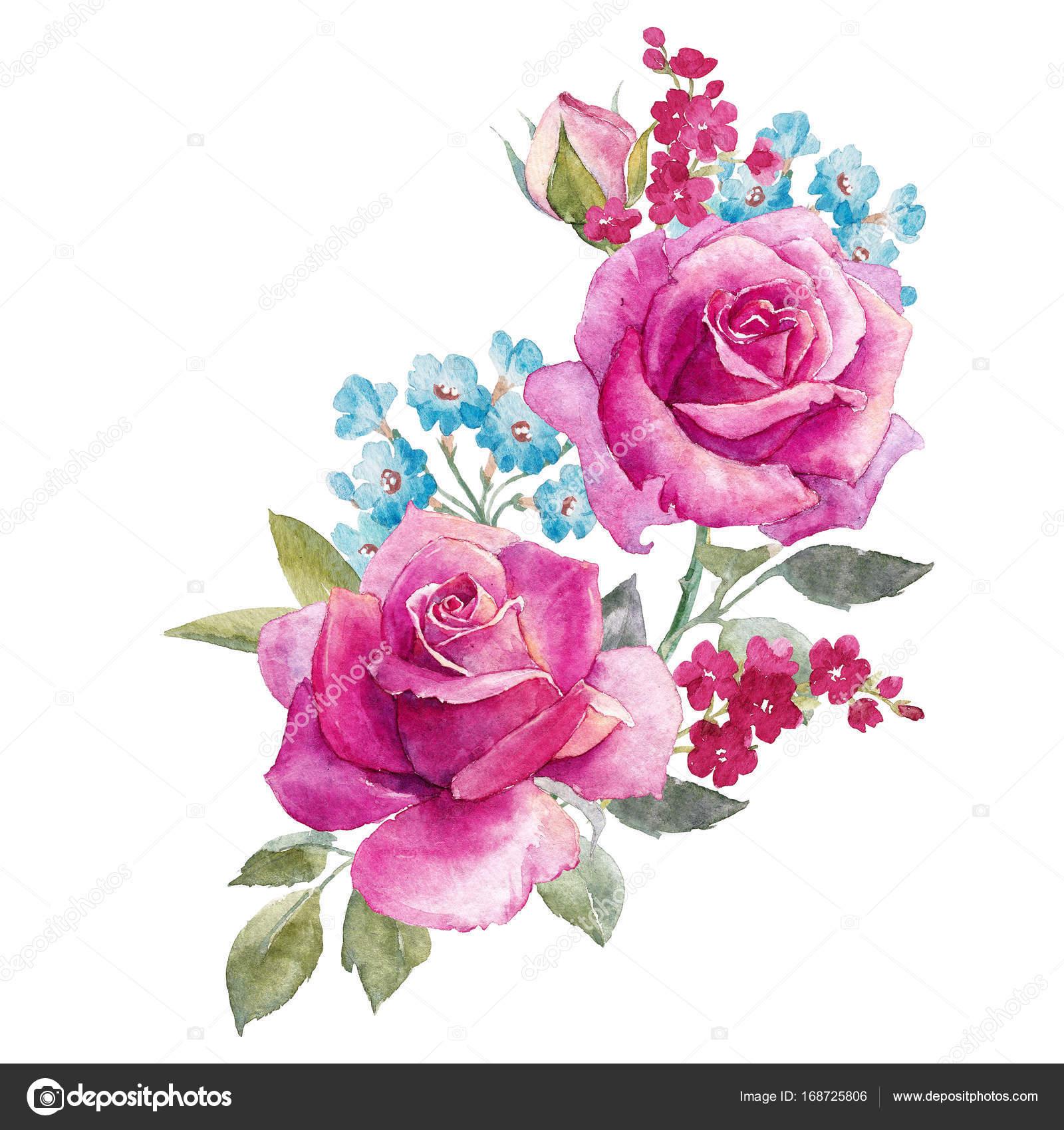 Composition De Roses Aquarelle Photographie Zeninaasya C 168725806