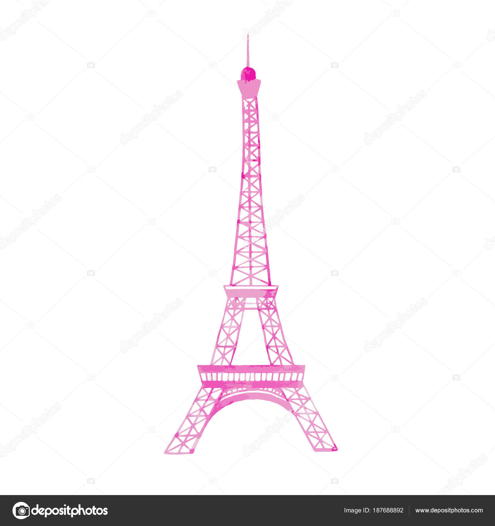 Watercolor vector eiffel tower stock vector zeninaasya 187688892 beautiful vector illustration with watercolor hand drawn eiffel tower in paris france vector by zeninaasya thecheapjerseys Gallery