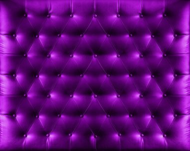 Close up retro chesterfield style, purple capitone textile background