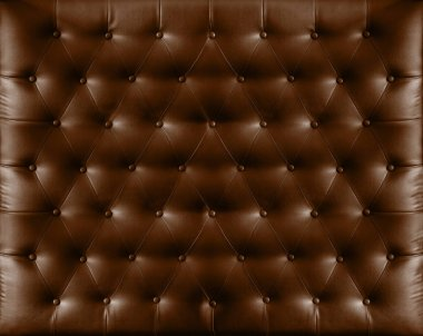 Close up retro chesterfield style, Brown capitone textile background