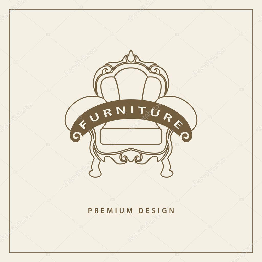 Plantilla de logotipo de muebles. diseño de lujo premium universal ...