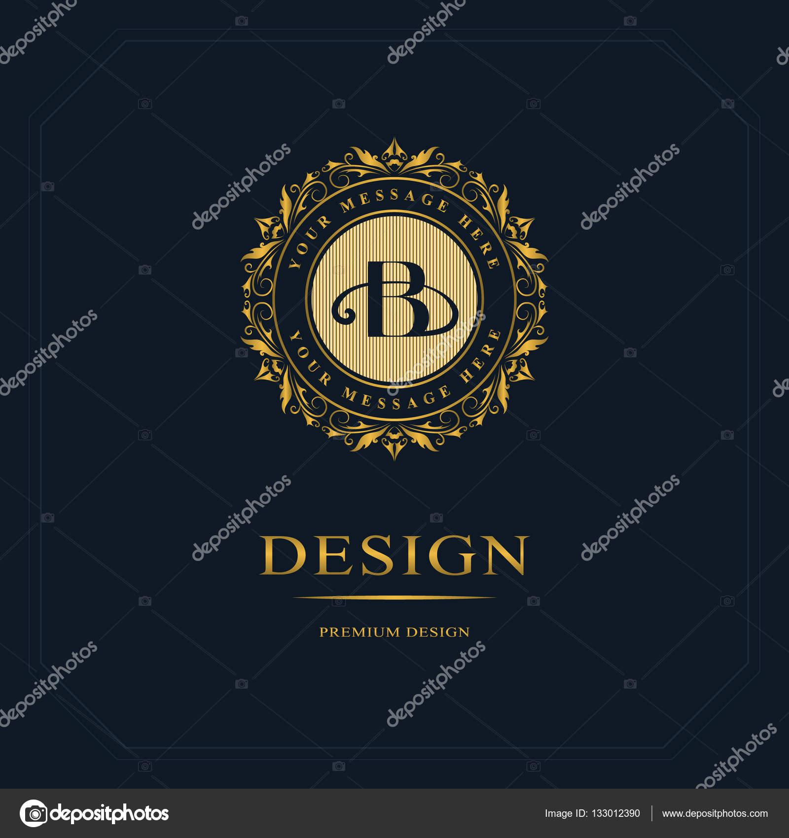 Elements De Conception Monogram Modele Gracieux Creation Logo Dart Calligraphique Ligne Elegante