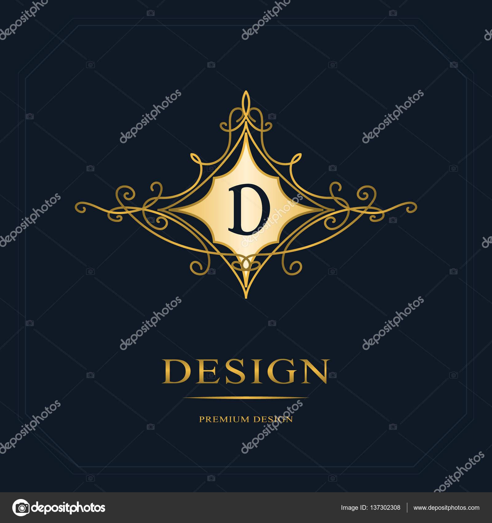 Cration De Logo Dart Calligraphique Ligne Lgante Lettre Signe Emblme D La Royaut Carte Visite Boutique Htel Hraldique Bijoux
