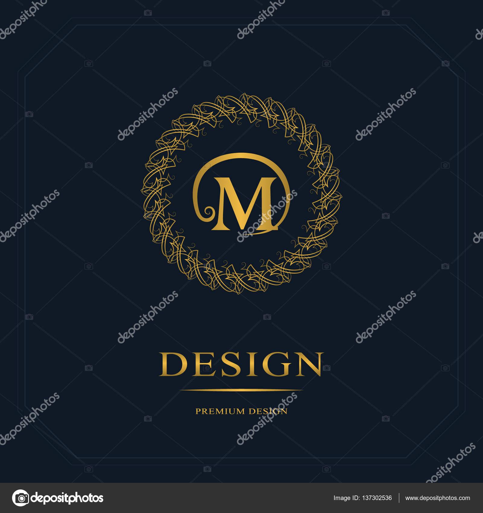 Cration De Logo Dart Calligraphique Ligne Lgante Lettre Signe Emblme M Pour La Royaut Carte Visite Boutique Htel Hraldique Bijoux
