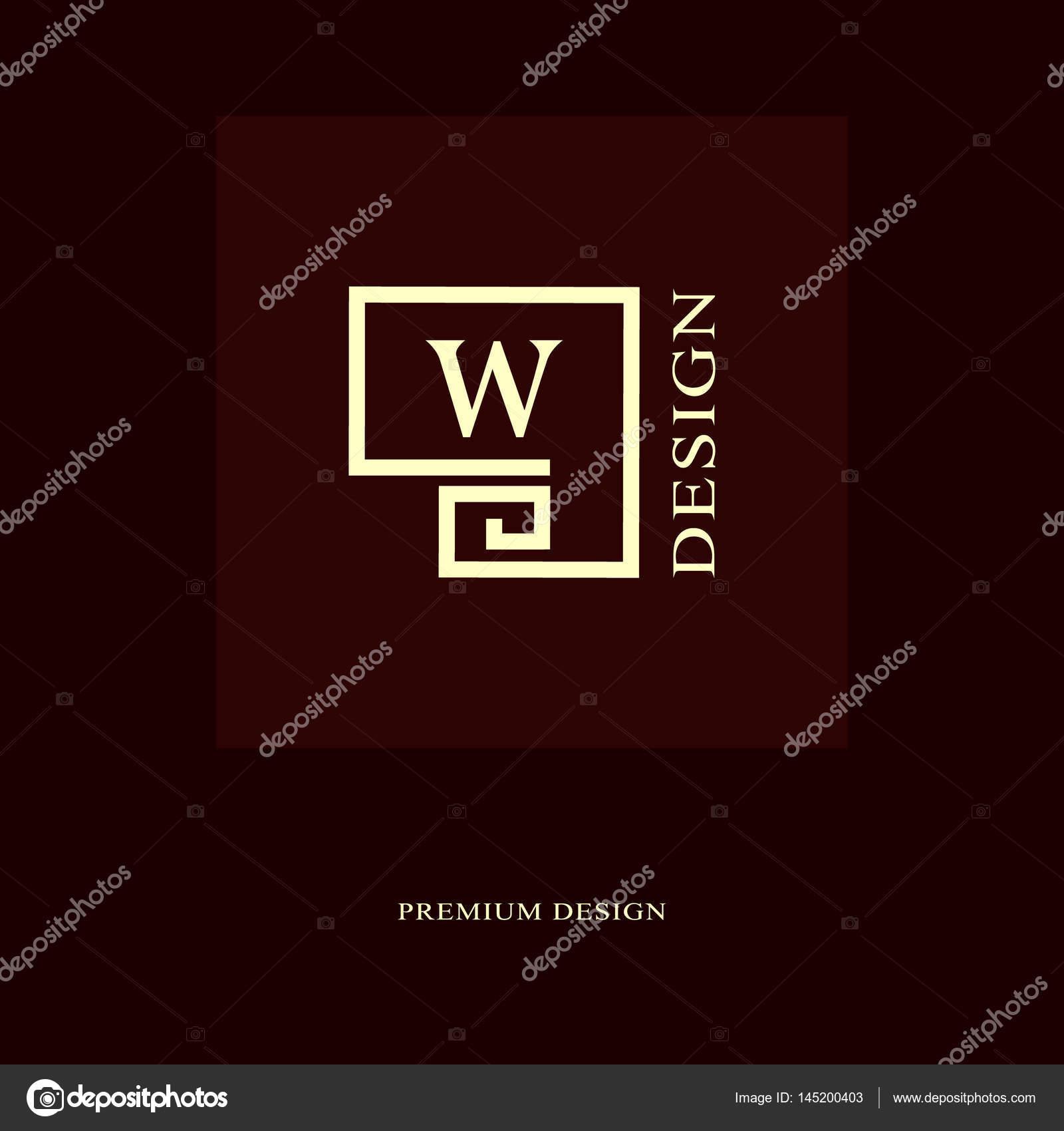 Diseño de logotipo abstracto. Monograma de lujo moderno. Elementos ...