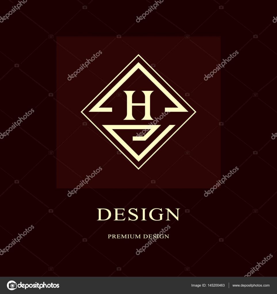Abstract Logo Design Modern Luxury Monogram Minimum Elements