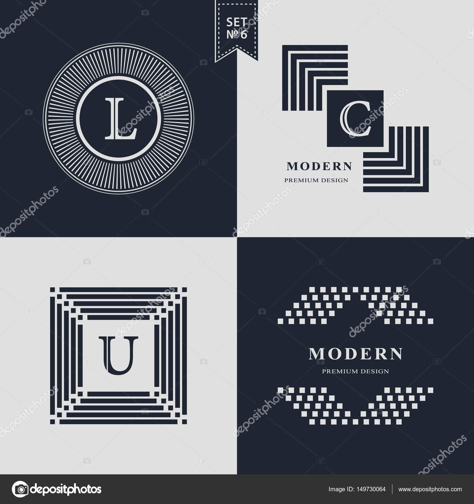 Logos Design Templates Set. Logotypes elements collection, Icons ...