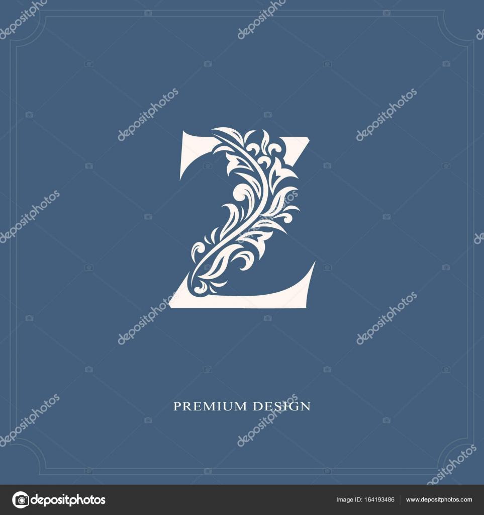 Elegant Letter Z Graceful Royal Style Calligraphic Beautiful Logo Vintage Drawn Emblem For Book Design Brand Name Business Card Restaurant Boutique