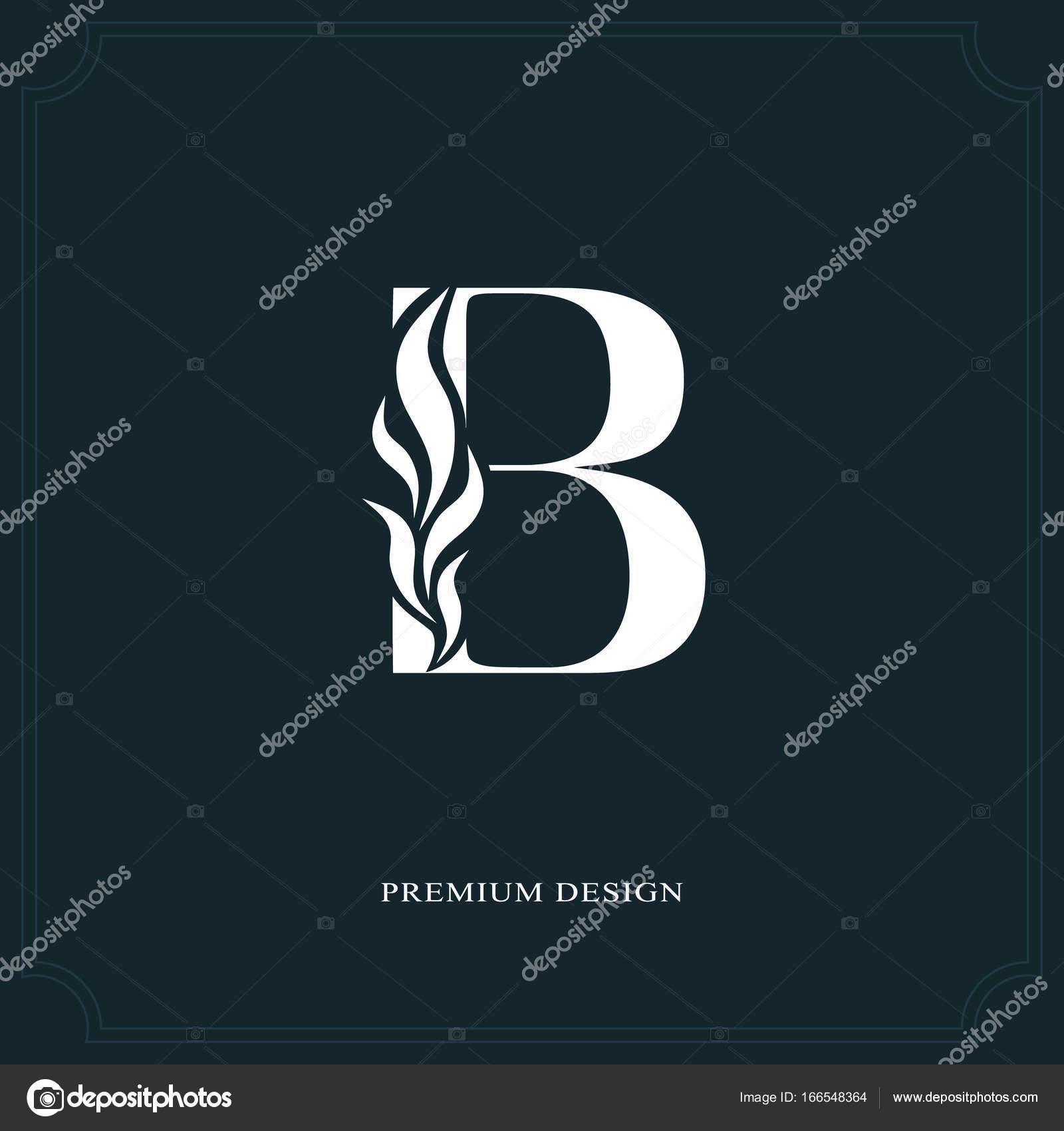 Elegant letter B. Graceful royal style. Calligraphic beautiful logo ...