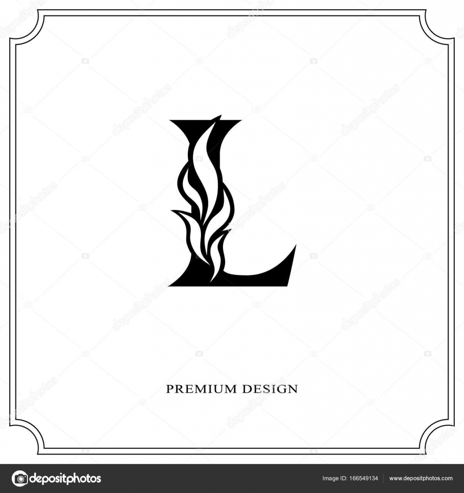 elegant letter l graceful royal style calligraphic beautiful logo vintage drawn emblem for book design brand name business card restaurant boutique