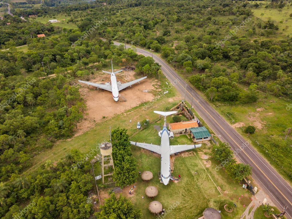 Decommissioned aircraft on a private plot in Paraguay.