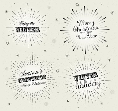 Collection of holiday letterings