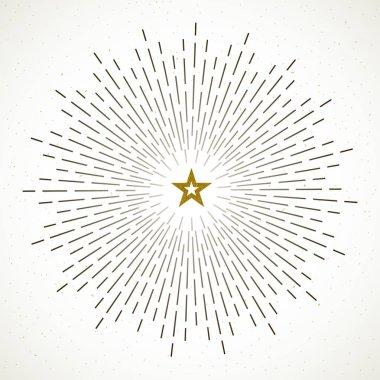 Light rays of burst