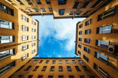 Old courtyards and buildings in the center of St. Petersburg, Russia