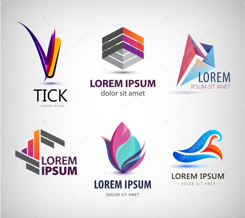 set of abstract logo design stock vector marylia 129049164