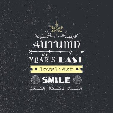 autumn quote poster