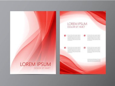 red modern design of Flyers