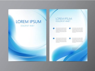 blue modern design of Flyers