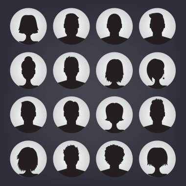 set of people avatars for profile page