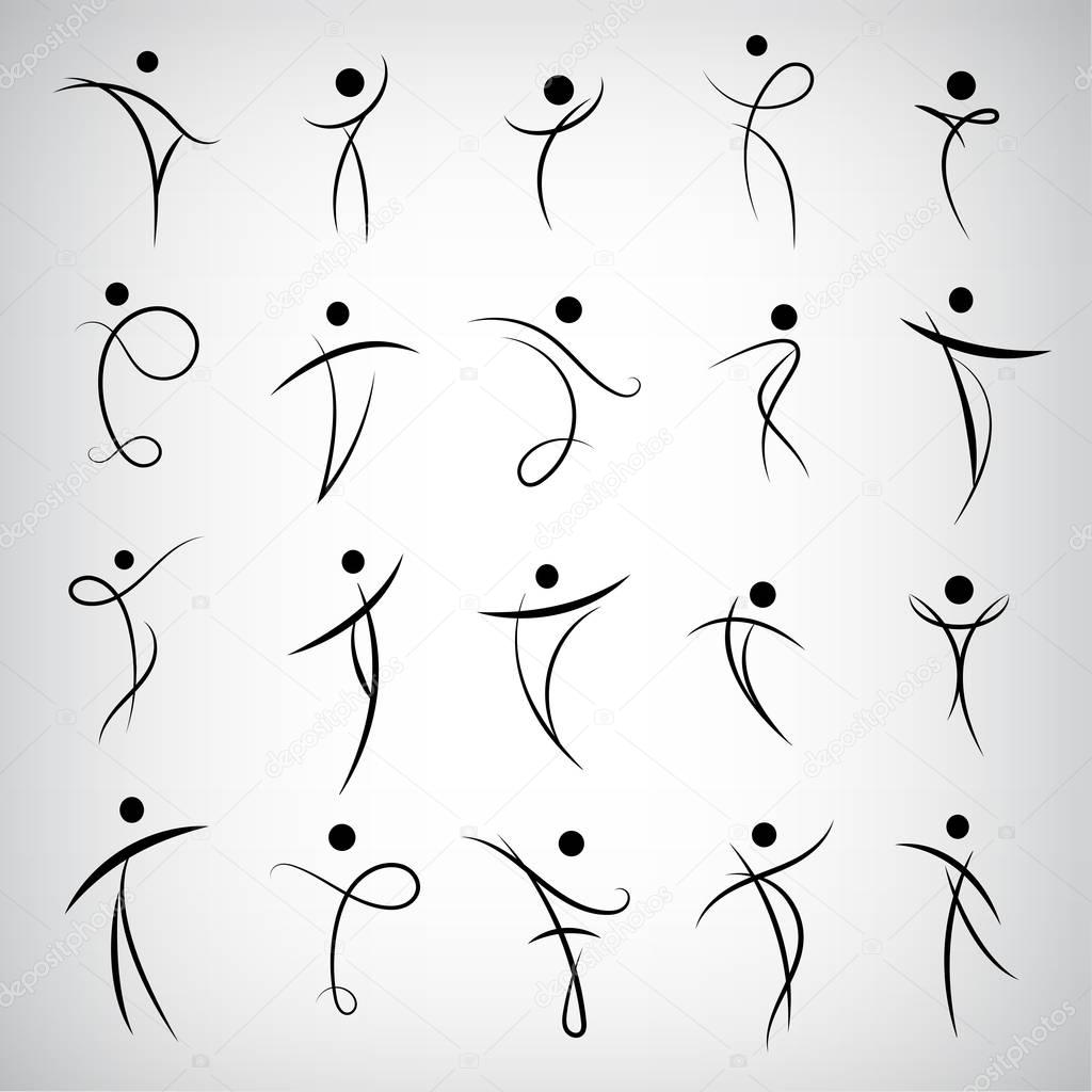 set of Human logos