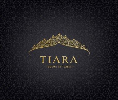 golden tiara on dark