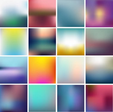 set of blurred abstract backgrounds