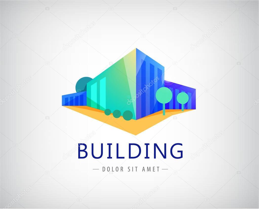set of building logo