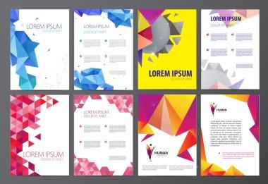 Set of flyers, brochures