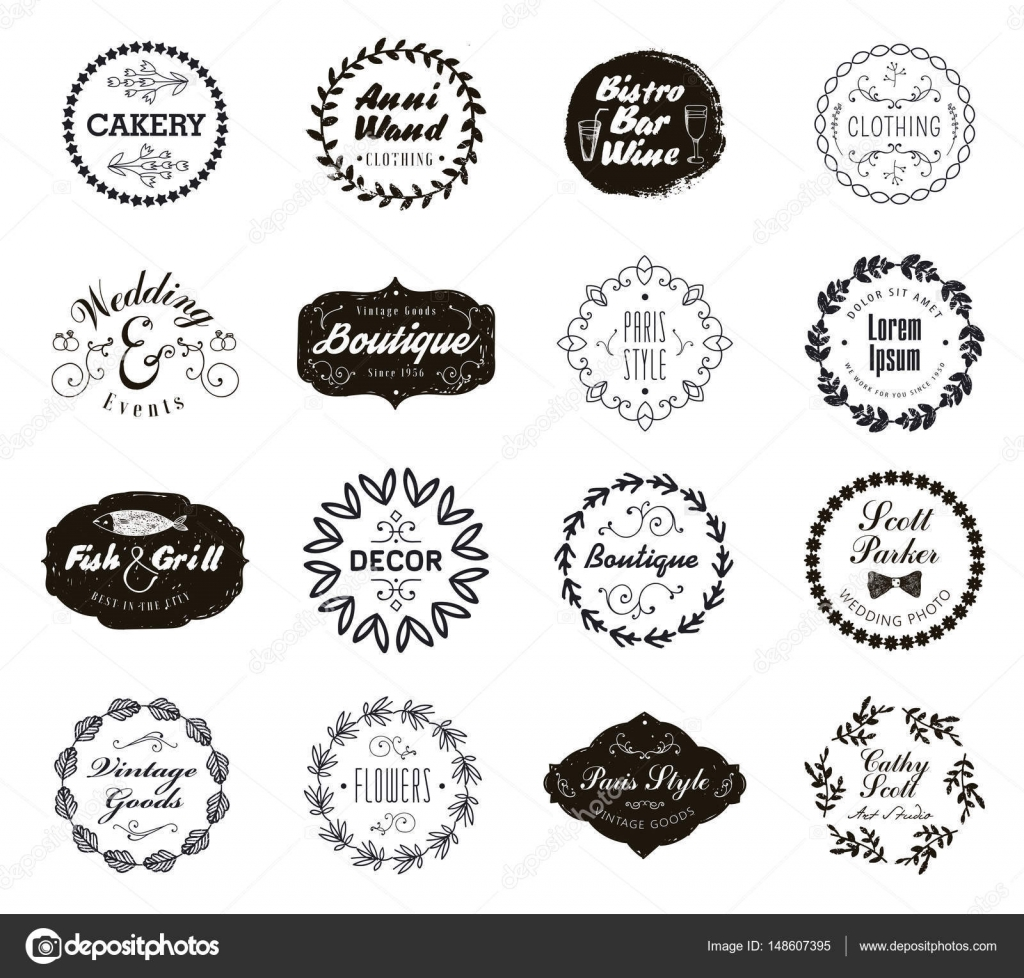 set of monogram frames — Stock Vector © Marylia #148607395