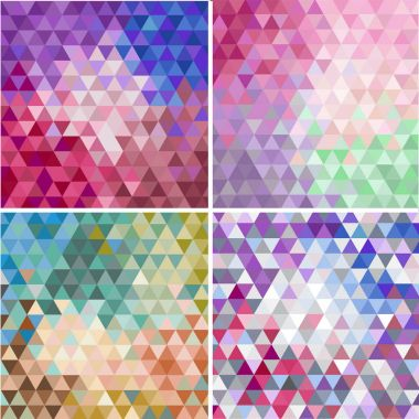 colorful mosaic faceted backgrounds
