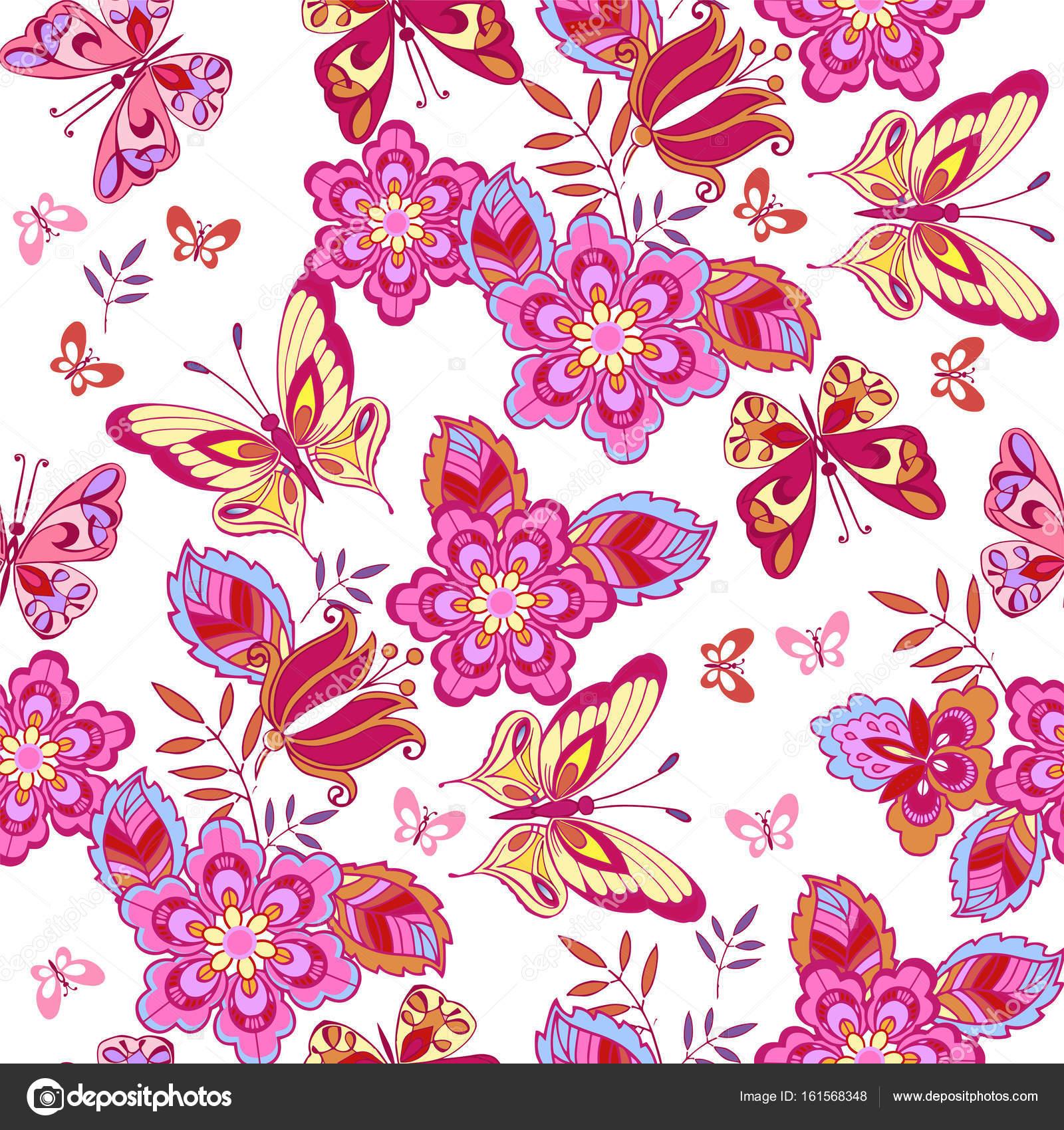 Sfondo Farfalle Carine Farfalle Rosa Su Sfondo Bianco Modello