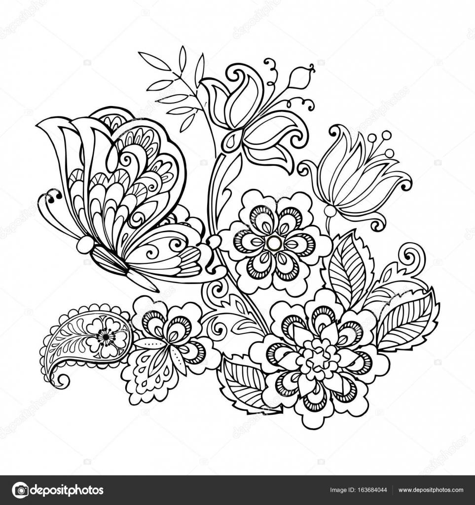 Imagenes Flores En Caricatura Para Dibujar Dibujado A Mano Flores
