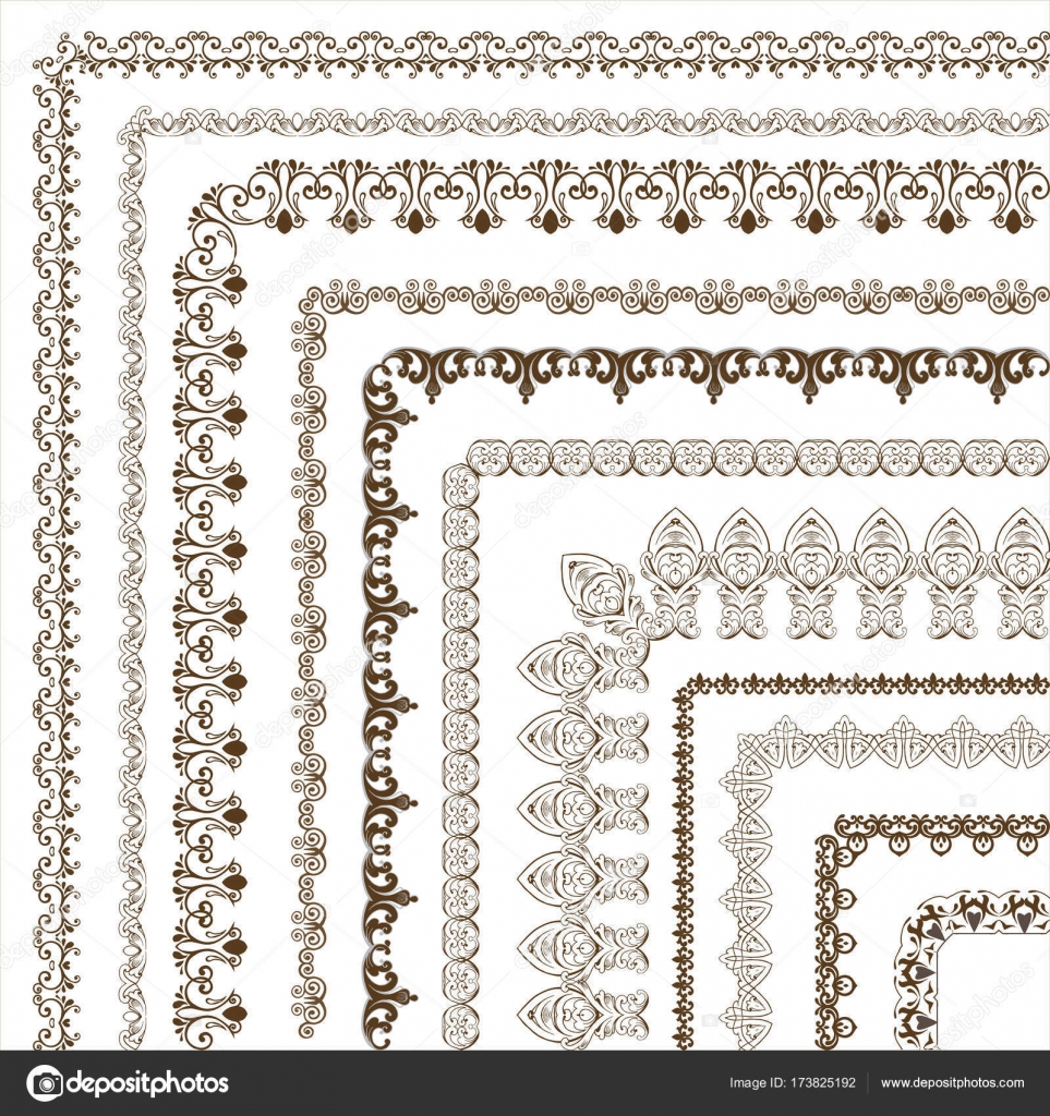 Conjunto de vectores Marcos y bordes. Un conjunto de lujo ...