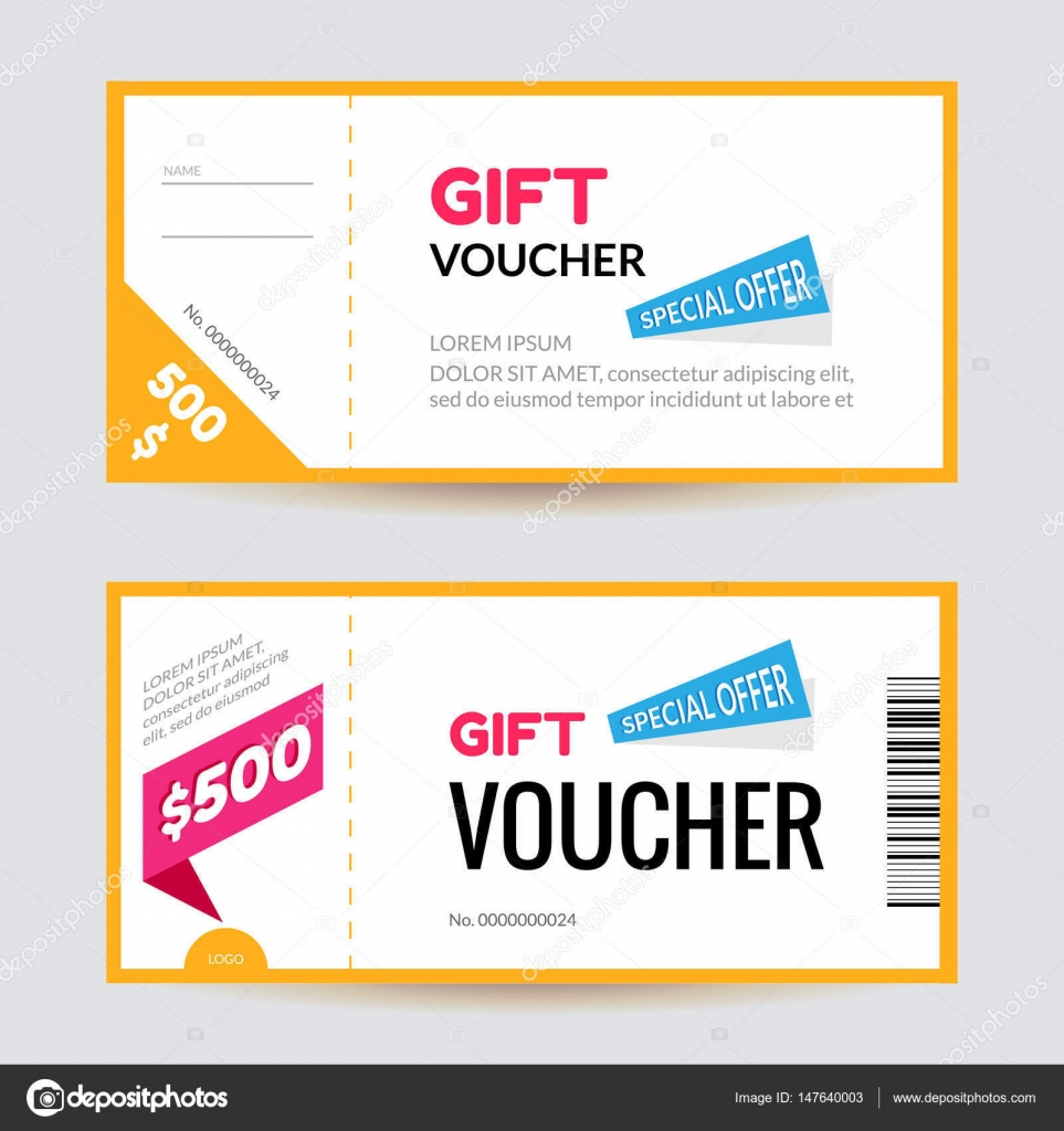 simple and clean modern gift voucher template discount certificate