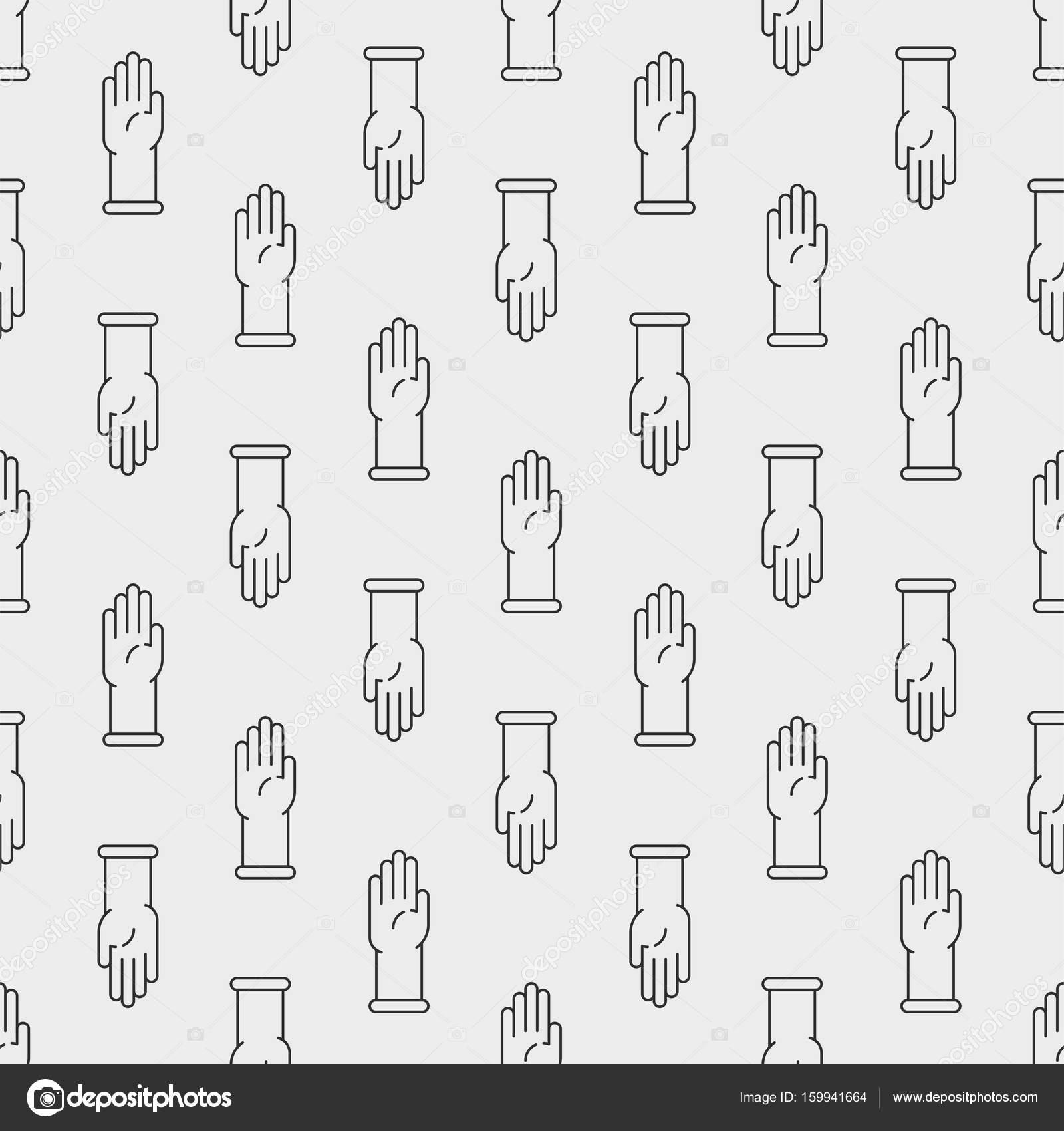 Guantes de látex icono de patrones sin fisuras — Vector de stock ...