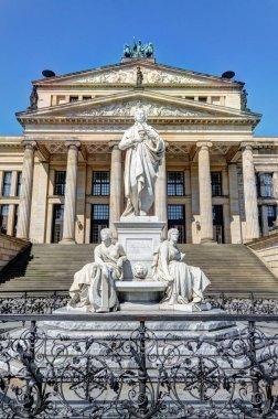 Schiller Statue and Concert Hall in Gendarmenmarkt, Berlin
