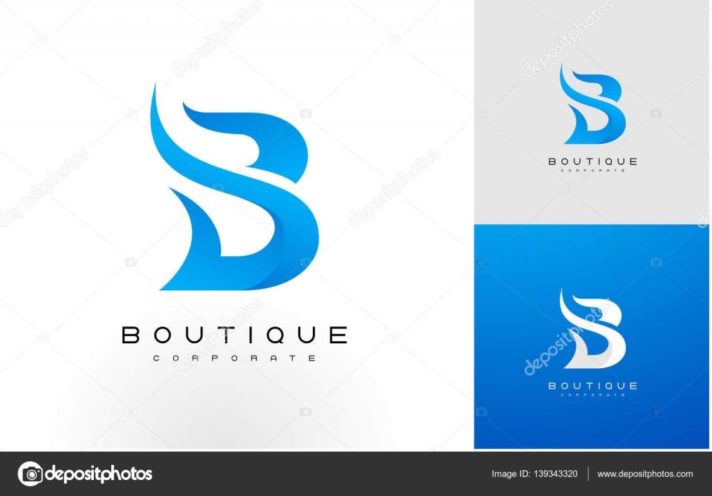 B Logo b logo blue. b letter icon design vector — stock vector