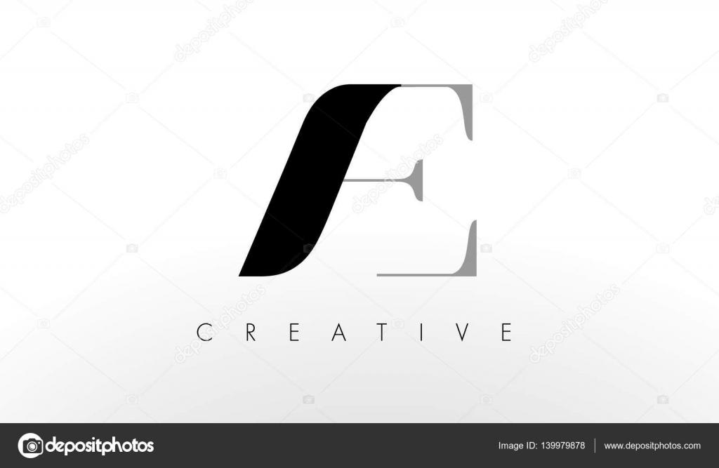 Ein E-Brief-Logo-Design. Kreative Ac-Buchstaben-Symbol — Stockvektor ...