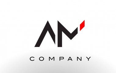 AM Logo.  Letter Design Vector.