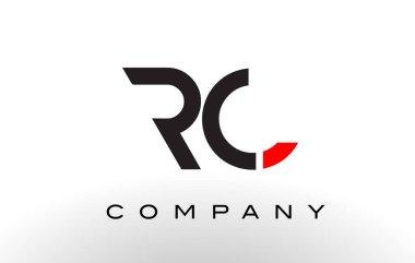 RC Logo.  Letter Design Vector.