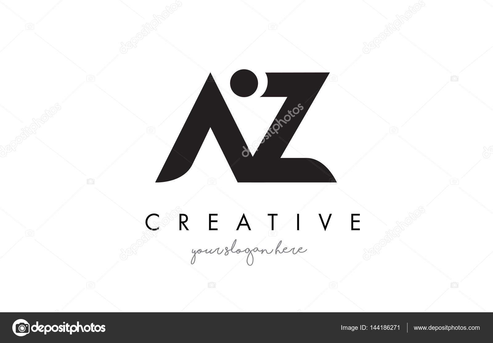 az letter logo design with creative modern trendy typography