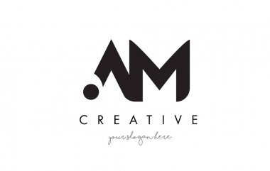 AM Letter Logo Design with Creative Modern Trendy Typography.