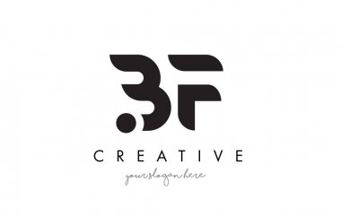 BF Letter Logo Design with Creative Modern Trendy Typography.