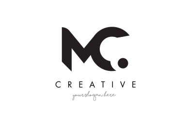 MC Letter Logo Design with Creative Modern Trendy Typography.