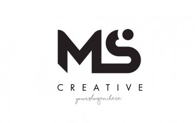 MS Letter Logo Design with Creative Modern Trendy Typography.