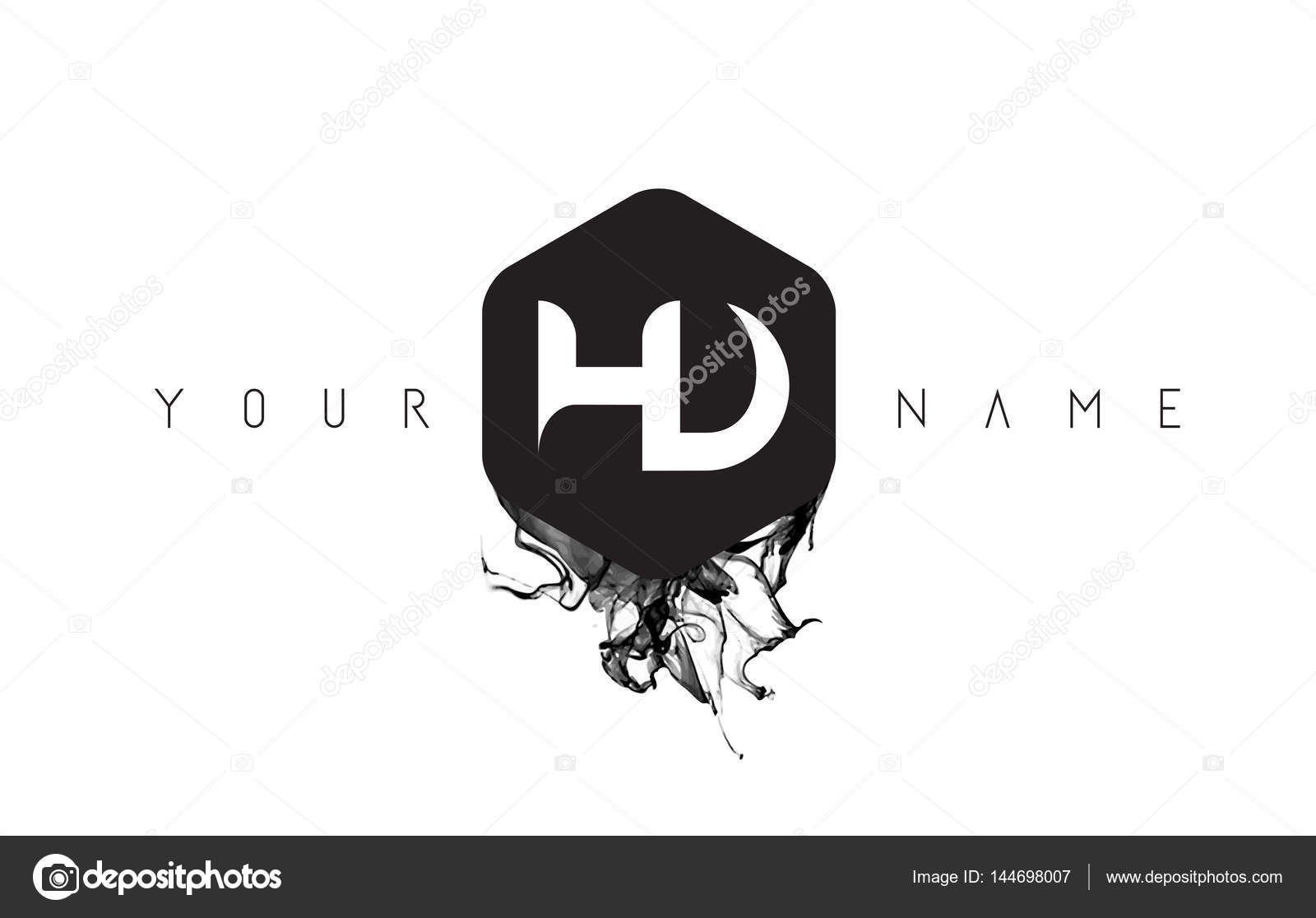 Hd letter logo design with black ink spill stock vector hd letter logo design with black ink spill stock vector thecheapjerseys Images