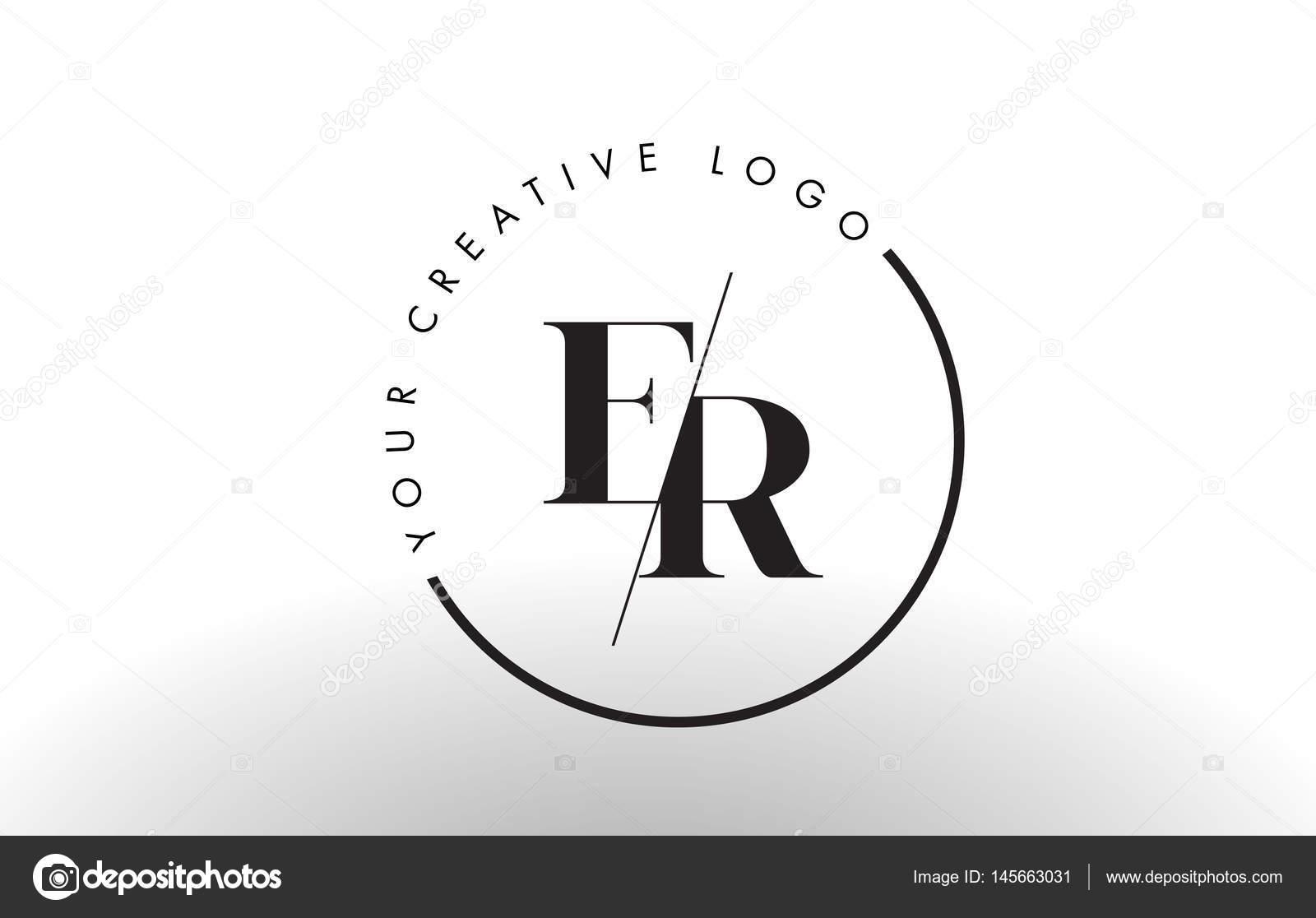 Design de logotipo de letra serif er com creative interseo corte design de logotipo de letra serif er com creative interseo corte vetores de stock ccuart Choice Image